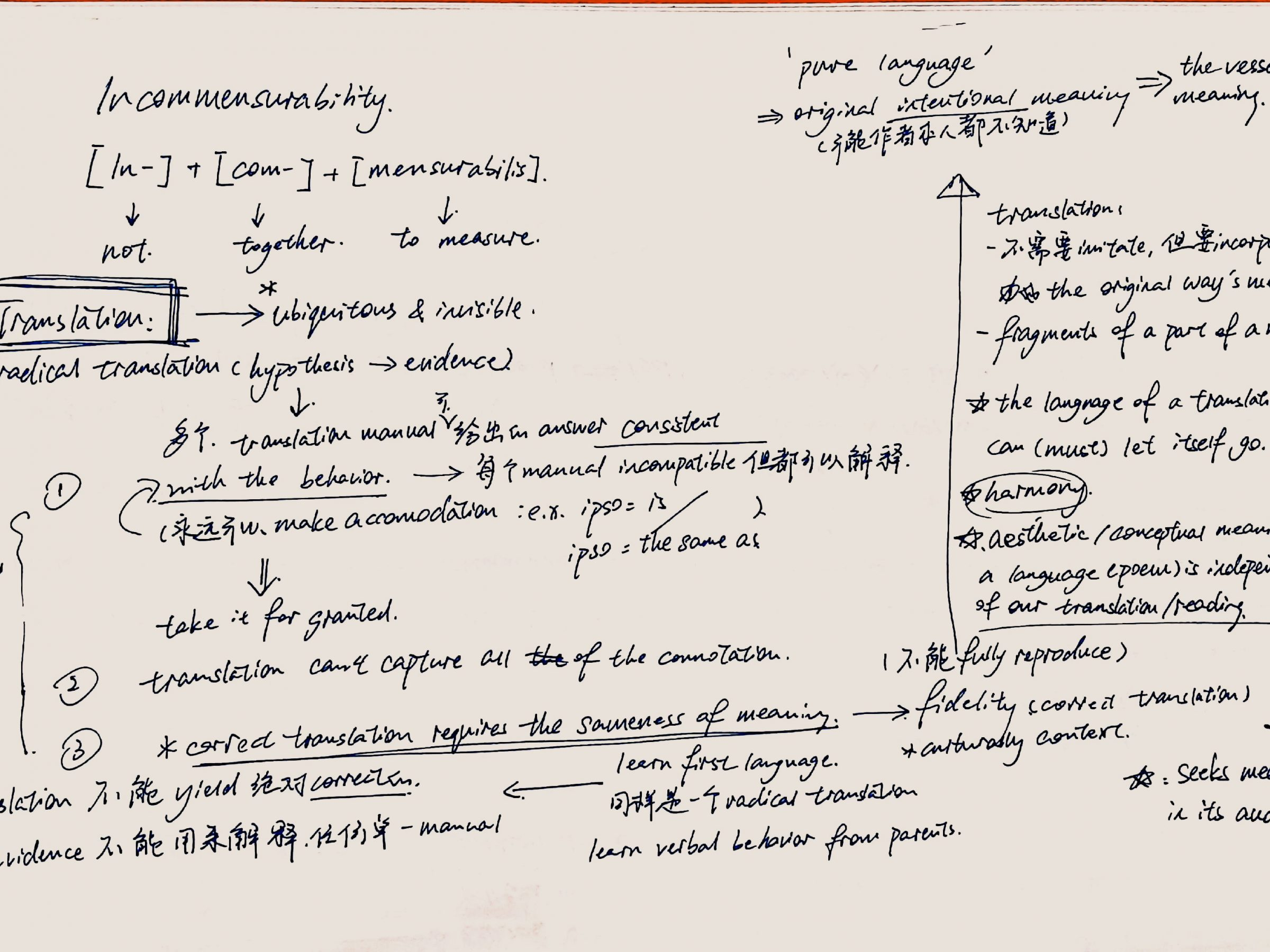 Incommensurability - Notes from Hum103