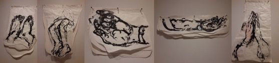 Drawing on Butcher Paper by Jagath Weerasinghe